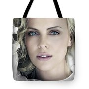 Charlize Theron Blue Eyed Blonde Blouse Celebrity Hollywood 31116 640x960 Tote Bag