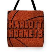 Charlotte Hornets Leather Art Tote Bag
