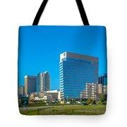 Charlotte North Carolina Cityscape Of Downtown Tote Bag