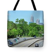 Charlotte Skyline From A Distance Tote Bag