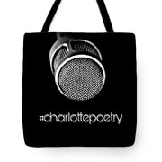 #charlottepoetry Photo Poster Art Tote Bag