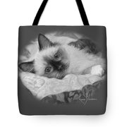 Charming - Black And White Tote Bag