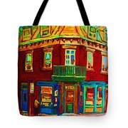 Charming Store  On The Corner Tote Bag