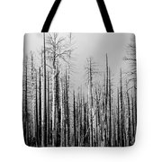 Charred Trees Tote Bag