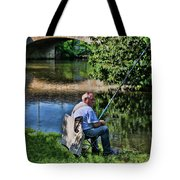 Chartres, France, A Good Day Fishing Tote Bag