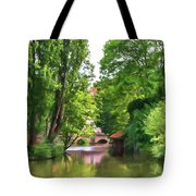Chartres, France, Park On L'eure River Tote Bag