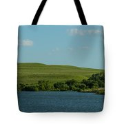 Chase Lake Pano 1 Tote Bag
