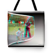 Chasing Bubbles - Use Red-cyan 3d Glasses Tote Bag