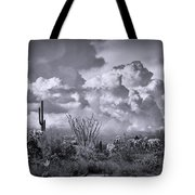 Chasing Clouds Again In Black And White  Tote Bag