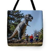 Chasing Humans Through Forest Park Tote Bag