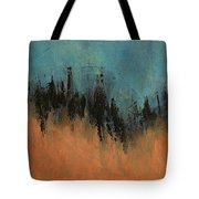 Chasing Stories Abstract Painting Tote Bag