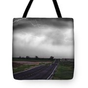 Chasing The Storm - Bw And Color Tote Bag