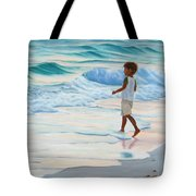 Chasing The Waves Tote Bag