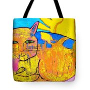 Chat A La Fenetre Tote Bag