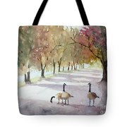 Chat In The Park Tote Bag