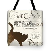 Chat Noir Paris Tote Bag