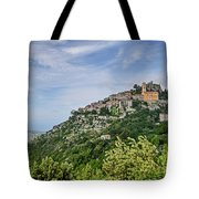 Chateau D'eze On The Road To Monaco Tote Bag by Allen Sheffield