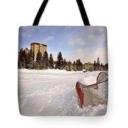 Chateau Lake Louise In Winter In Alberta Canada Tote Bag