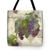 Chateau Pinot Noir Vineyards - Vintage Style Tote Bag