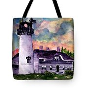 Chatham Lighthouse Martha's Vineyard Massachuestts Cape Cod Art Tote Bag