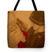 Chatting With Santa Tote Bag