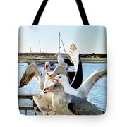 Chatty Seagull Birds Tote Bag