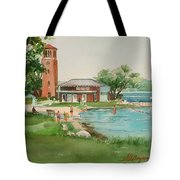 Chautauqua Bell Tower And Beach Tote Bag
