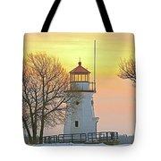 Cheboygan Harbor Light 2 Tote Bag