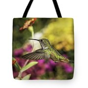 Check Out That Zinnia Tote Bag