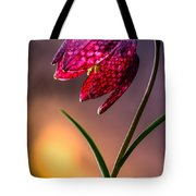 Checkered Lily Tote Bag