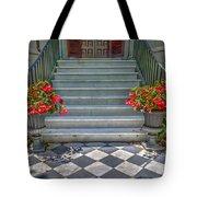 Checkered Tile Tote Bag