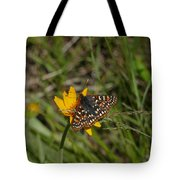 Checkerspot On Bahai Aster 4 Tote Bag
