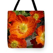 Cheerful Orange Flowers  Tote Bag