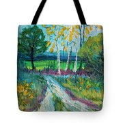 Cheerful Path Tote Bag
