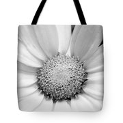 Cheery Daisy - Black And White Tote Bag