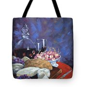 Cheese And Good Wine Tote Bag