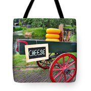Cheese On A Wagon Tote Bag