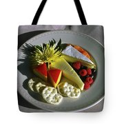 Cheese Wedges With Crackers And Fruit Tote Bag