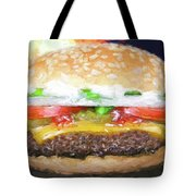 Cheeseburger Deluxe Tote Bag