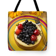 Cheesecake With Fruit Tote Bag