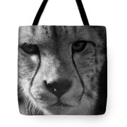 Cheetah Black And White Tote Bag