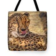 Cheetah Cattitude Tote Bag