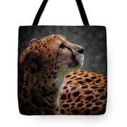 Cheetah Closeup Portrait Tote Bag