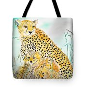 Cheetah Family Tote Bag