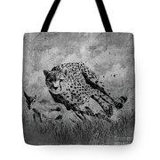 Cheetah Hunting Deer  Tote Bag