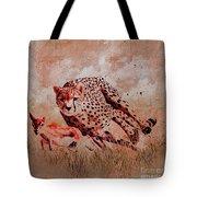 Cheetah Hunting Tote Bag