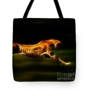 Cheetah Hunting His Prey Tote Bag by Pamela Johnson