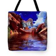 Cheetah Lake Tote Bag
