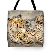 Cheetah Lounge Cats Tote Bag