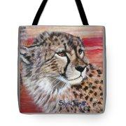 Blaa Kattproduksjoner       Cheetahs Face Tote Bag